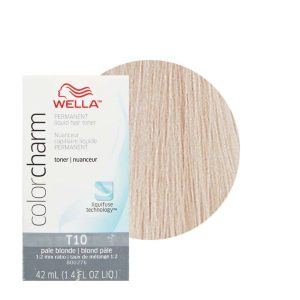 Pale Blonde T10 Wella Color Charm Permanent Liquid Hair Toner