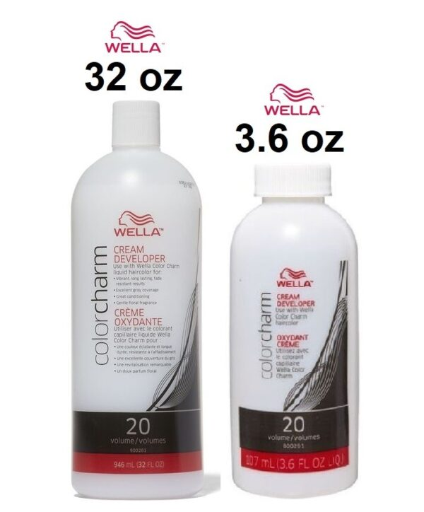 Wella Color Charm Cream Developer Volume 3.6 oz & Wella Color Charm Cream Developer Volume 32 oz