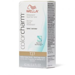 Wella Color Charm Permanent Liquid Haircolor Medium Beige Blonde T27