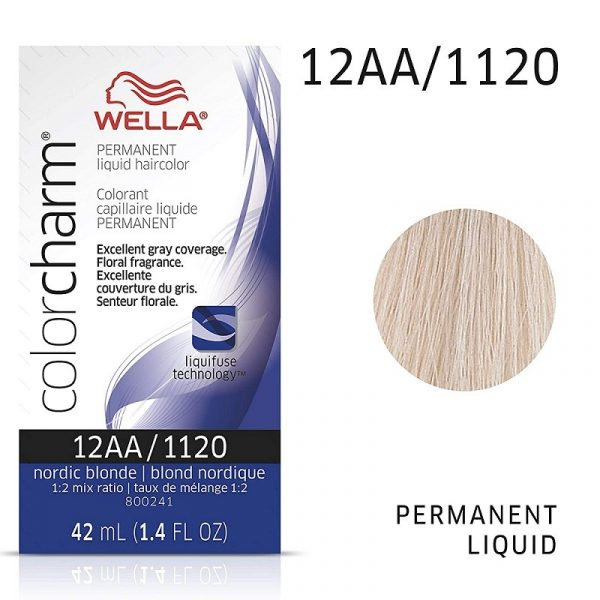 Wella Color Charm Permanent Liquid Haircolor 12AA/1120 Nordic Blonde