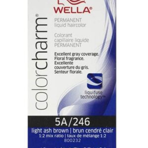 Wella 5A Light Ash Brown Color Charm Permanent Liquid Haircolor