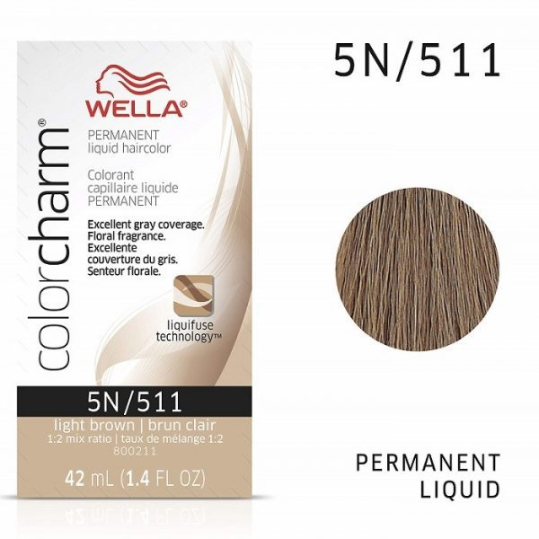 Light Brown 5N - Wella Color Charm Permanent Liquid Haircolor