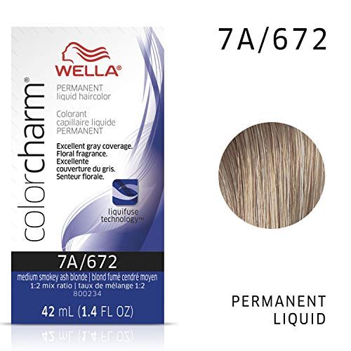 Medium Smokey Ash Blonde 7A/672 - Wella Color Charm Permanent Liquid Haircolor & Developer (Vol. 20)
