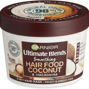 Garnier Ultimate Blends Hair Food Coconut Oil 3-in-1 Frizzy Hair Mask Treatment, 390ml
