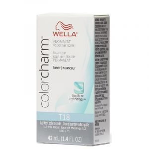 Lightest Ash Blonde T18 Wella Color Charm Permanent Hair Toner