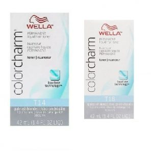 T18 + T14 Wella Lightest Ash Blonde & Pale Ash Blonde Hair Toners