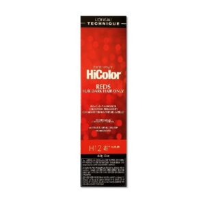H12 Deep Auburn Red - L'Oreal Excellence HiColor for Dark Hair Only