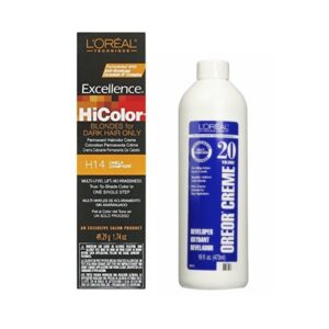 L'Oreal HiColor H14 Vanilla Champagne, Blondes For Dark Hair Only