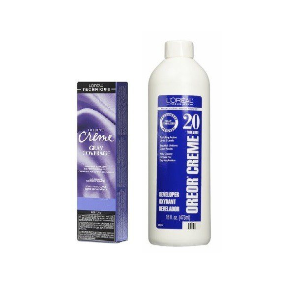 L'Oreal Excellence Creme Gray Coverage 6 Light Brown Permanent Haircolor
