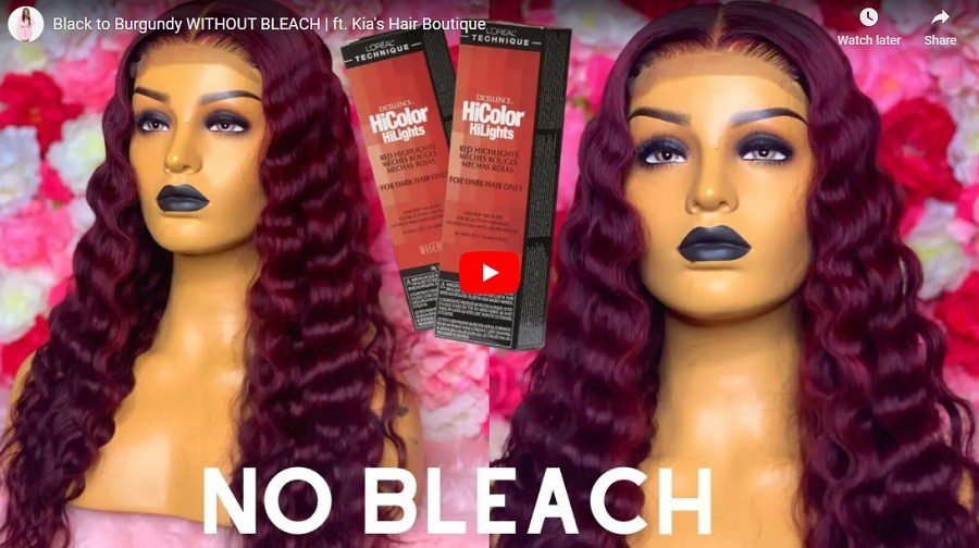 Black to Burgundy WITHOUT BLEACH
