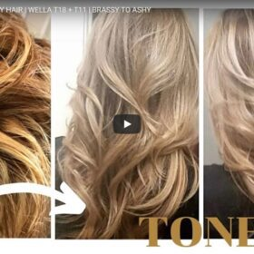How To Tone Brassy Hair to Ashy With Wella T18 And T11