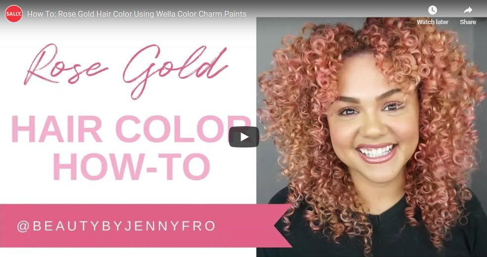 Rose Gold Hair Colour Using Wella Color Charm Paints Light Pink
