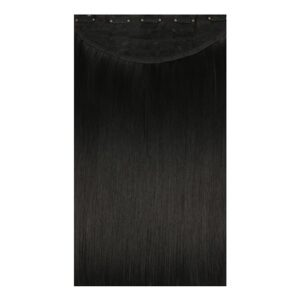 Jet Black Synthetic Clip In Hair Extensions